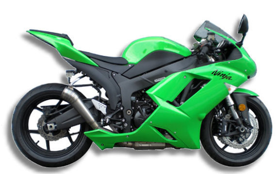'07~'08 ZX‐6R GP STYLE SLIP ON MUFFLER SPEC