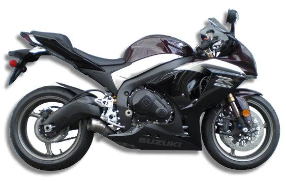 '09-'11 GSX-R1000 GP Style メガフォン スリップオン ショートタイプ 一本出し