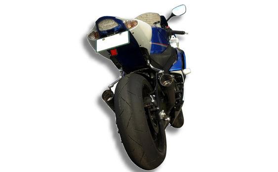 '07-'08 GSX-R1000 GP Style メガフォン スリップオン 2本出し