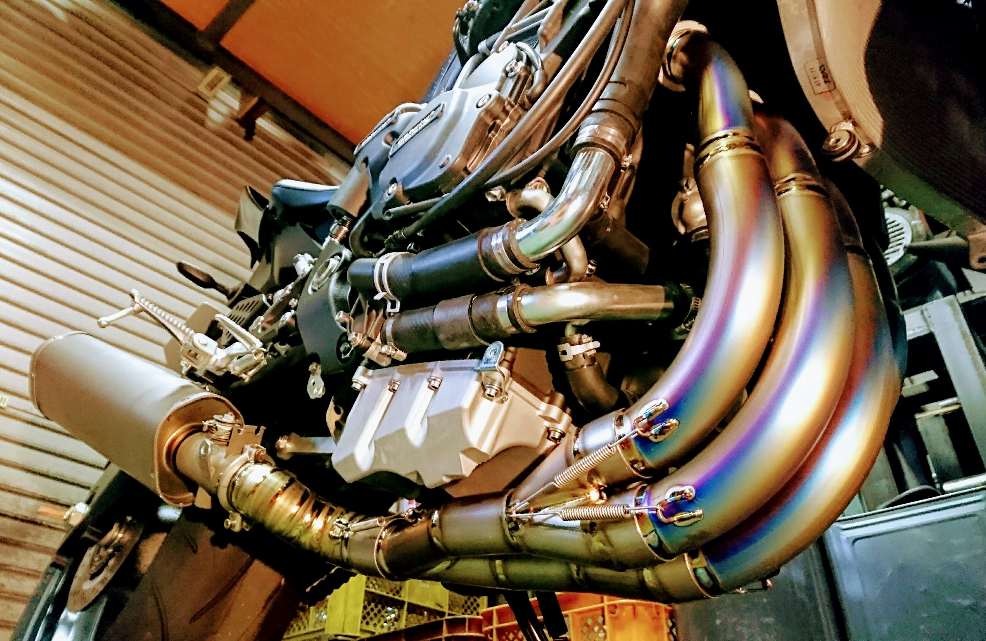 '17-YZF-R6 フルチタン ストレートヘッダーパイプ