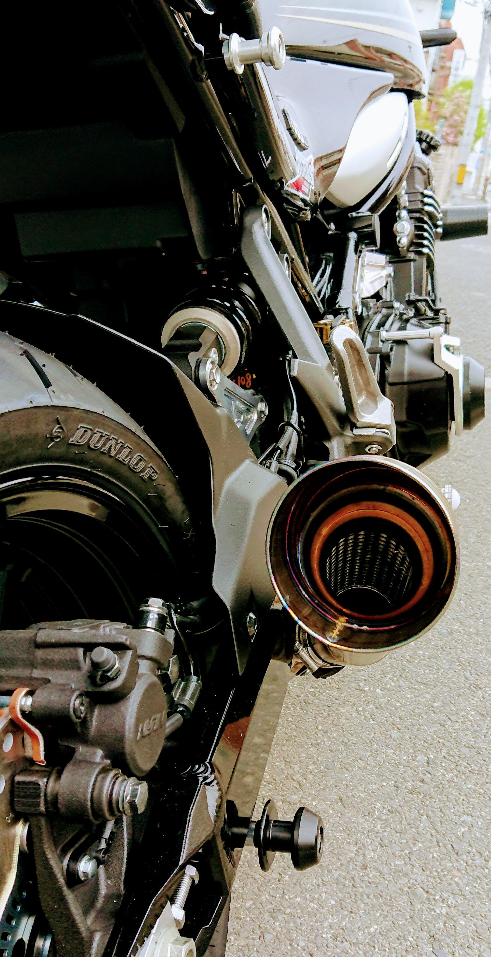 Z900RS GPスタイルメガフォンスリップオン
